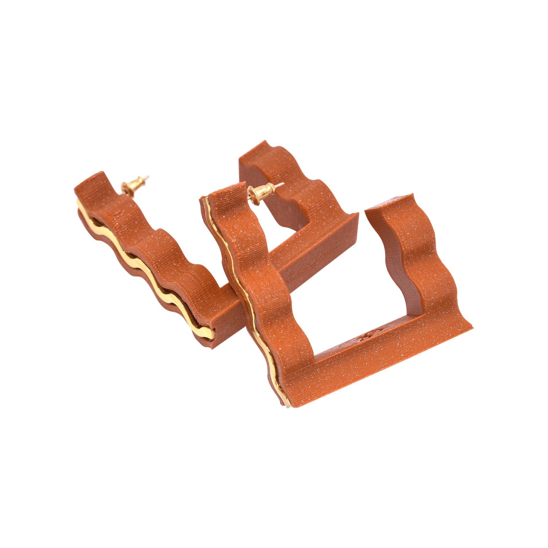 3d Printed Mirage Hoop Earrings Yam