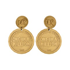 3d Printed One in a Million Coin Earrings