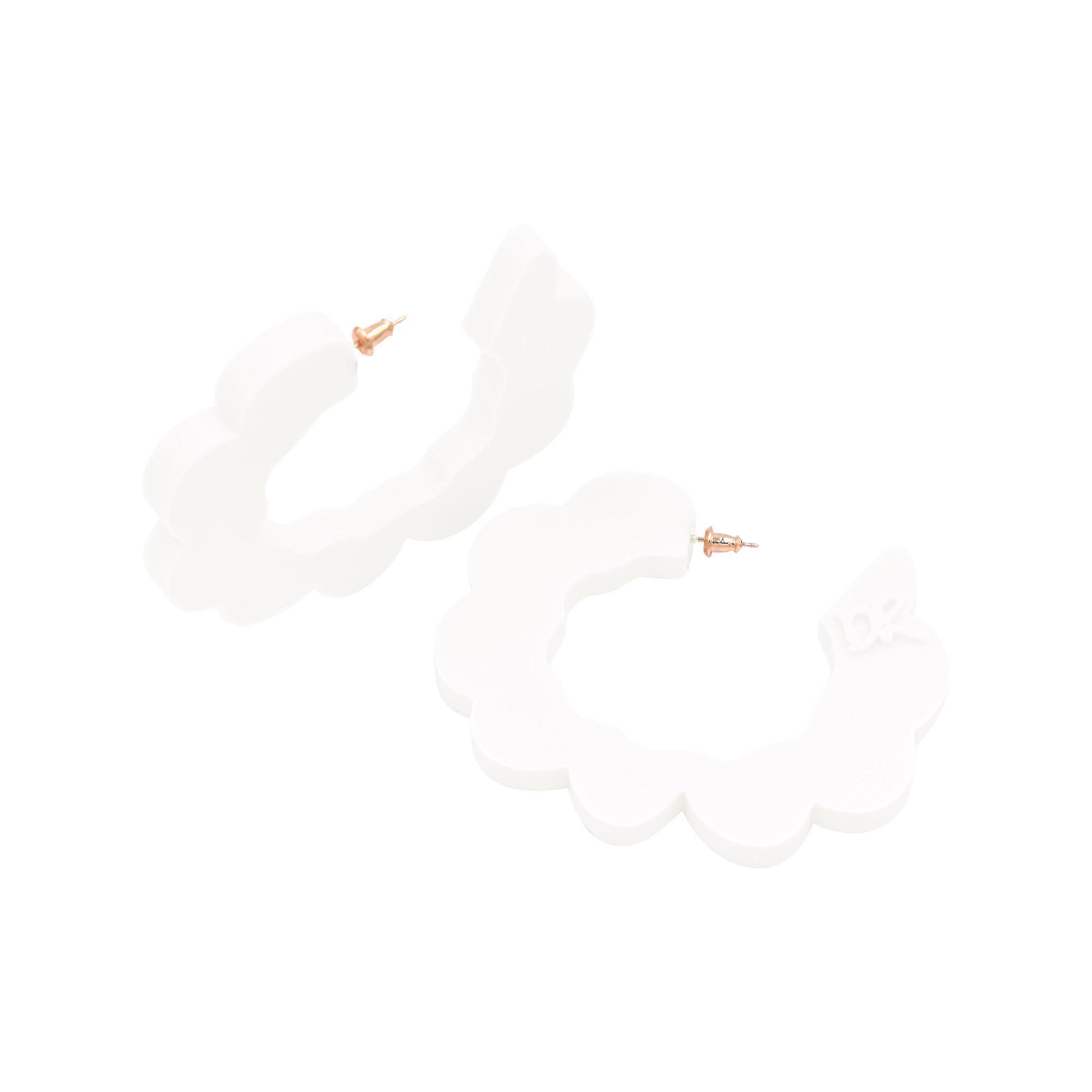 3d Printed Pretend Cloud Hoop Earrings Translucent