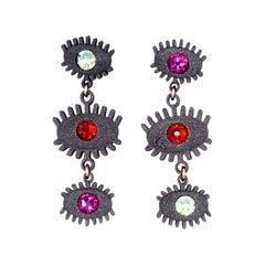 3d Printed Swarovski Crystal Perception Earrings