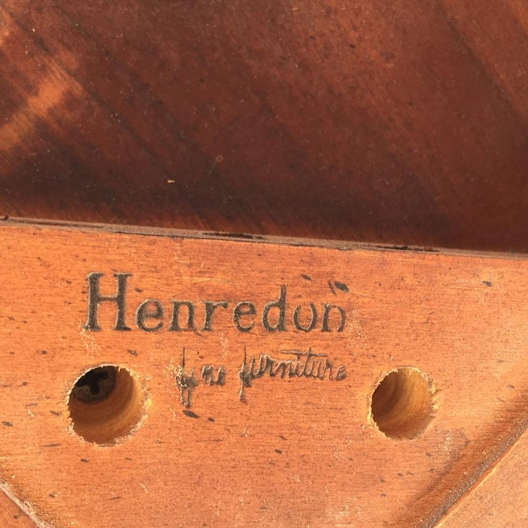 Henredon Mahogany Extendable Dining Table with Ming Legs For Sale 3