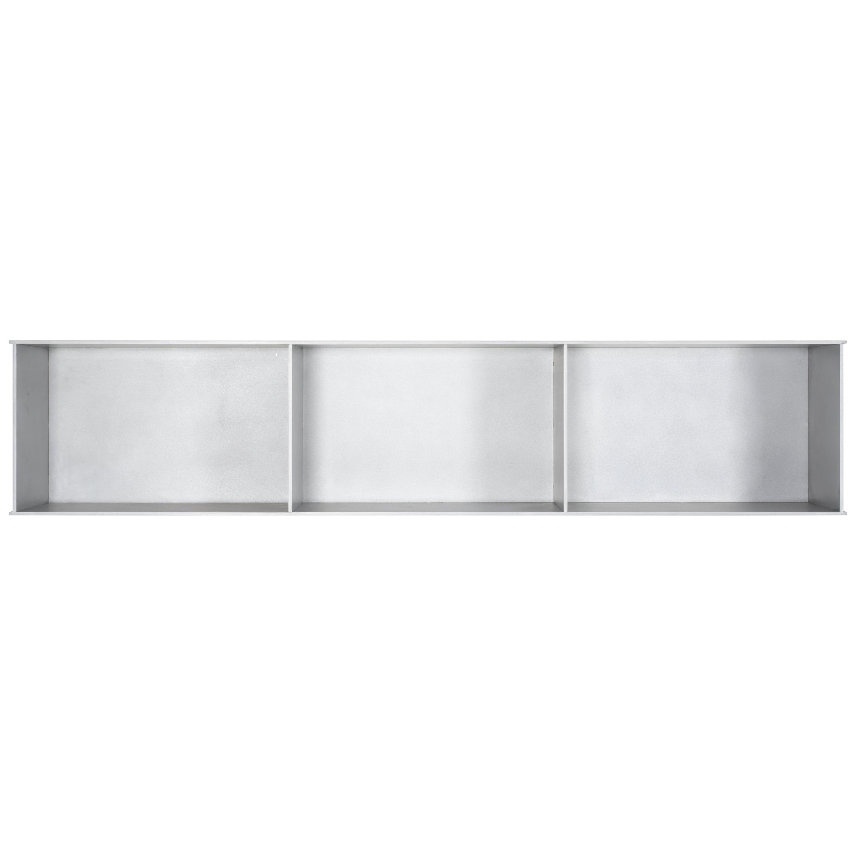 3G Wall-Mounted Shelf in Waxed Aluminum Plate by Jonathan Nesci