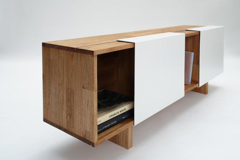 3X Shelf with Base Solid English Walnut LAXseries by MASHstudios For Sale 1