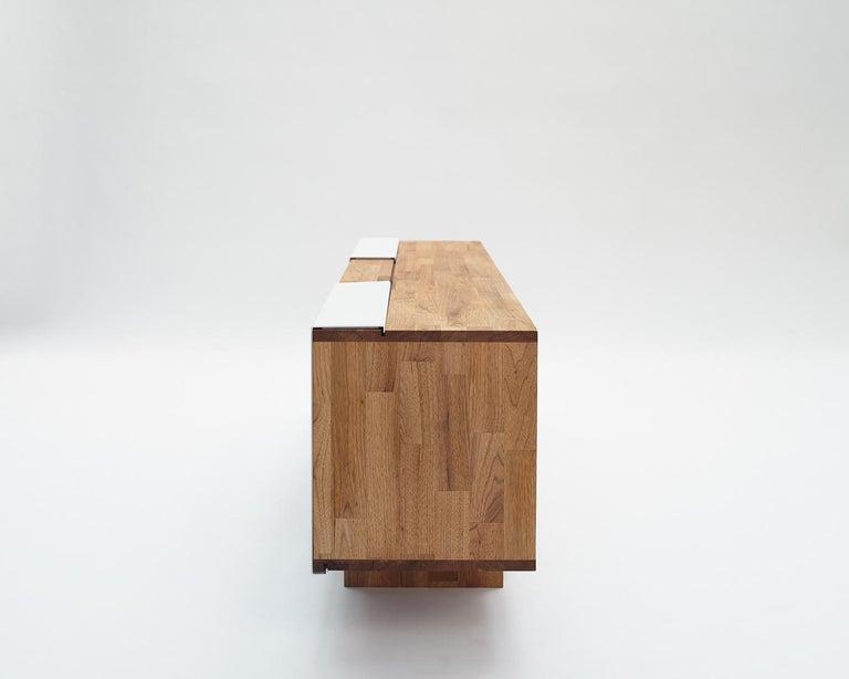 3X Shelf with Base Solid English Walnut LAXseries by MASHstudios For Sale 3