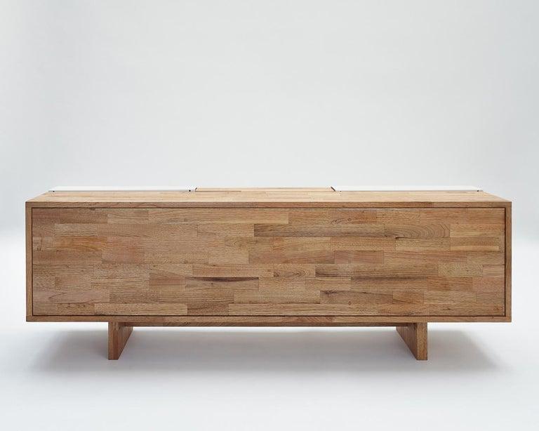 3X Shelf with Base Solid English Walnut LAXseries by MASHstudios For Sale 2
