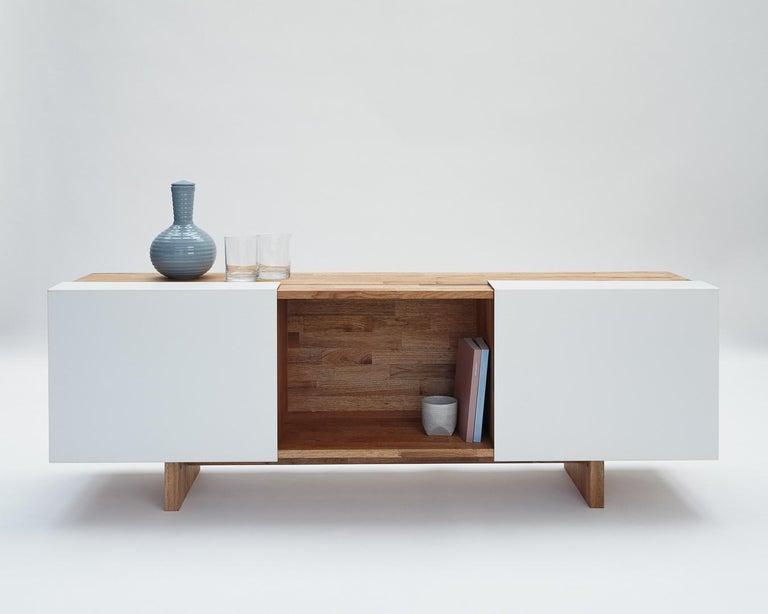 3X Shelf with Base Solid English Walnut LAXseries by MASHstudios For Sale 4