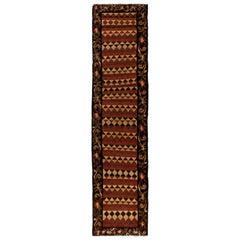 3 x 12.4 Ft Vintage Bessarabian Kilim, Floral Handwoven Wool Runner from Moldova