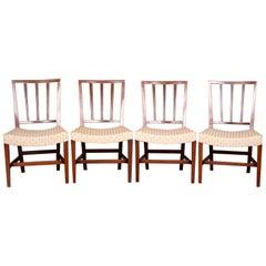 4 18th Century Georgian Dining Chairs Mahogany