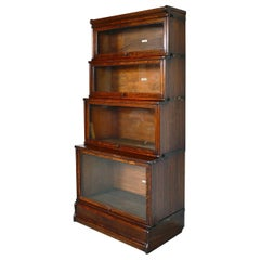 4 Antique Globe Wernicke Oak Glass Stacking Library Barrister Modular Bookcase