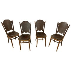 4 Antique N ° 67 Chairs from Jacob & Josef Kohn, circa 1900