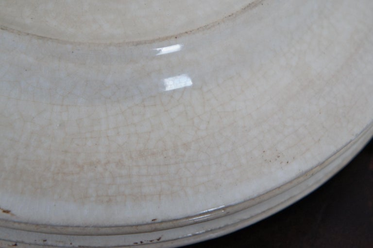 4 Antique William Brownfield Madras Ironstone Brown Transferware Plates For Sale 5