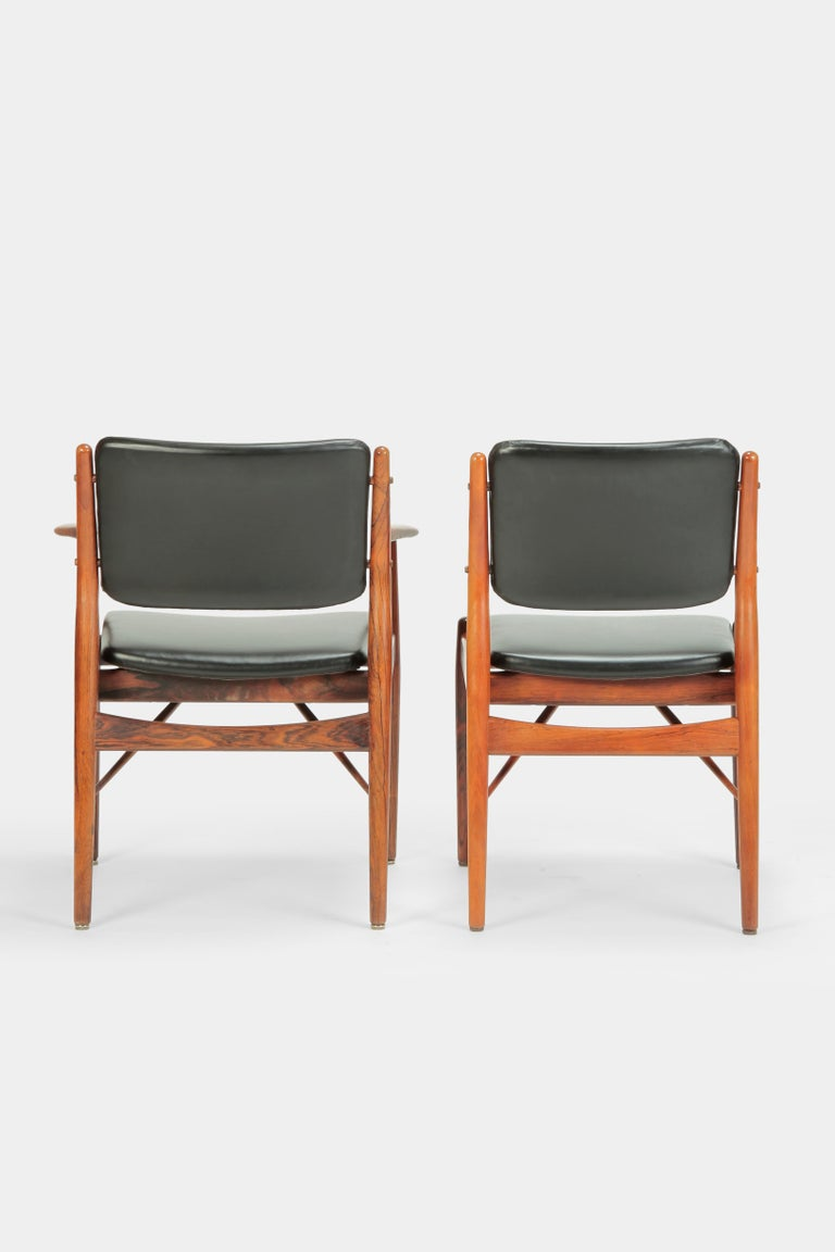 4 Arne Vodder Chairs Sibast, 1960s For Sale 3