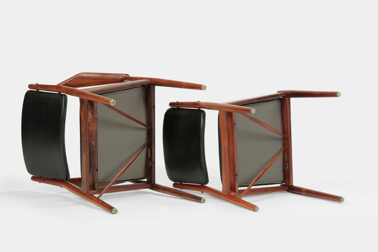 4 Arne Vodder Chairs Sibast, 1960s For Sale 4