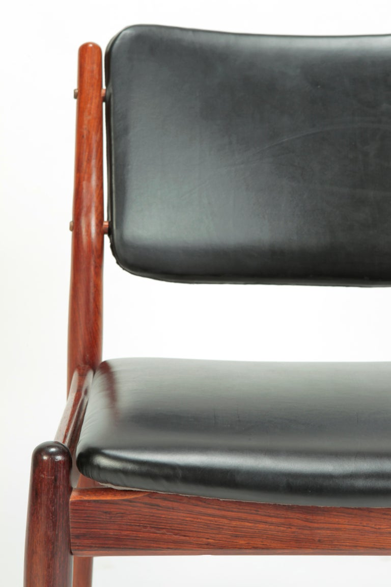 4 Arne Vodder Chairs Sibast, 1960s For Sale 6