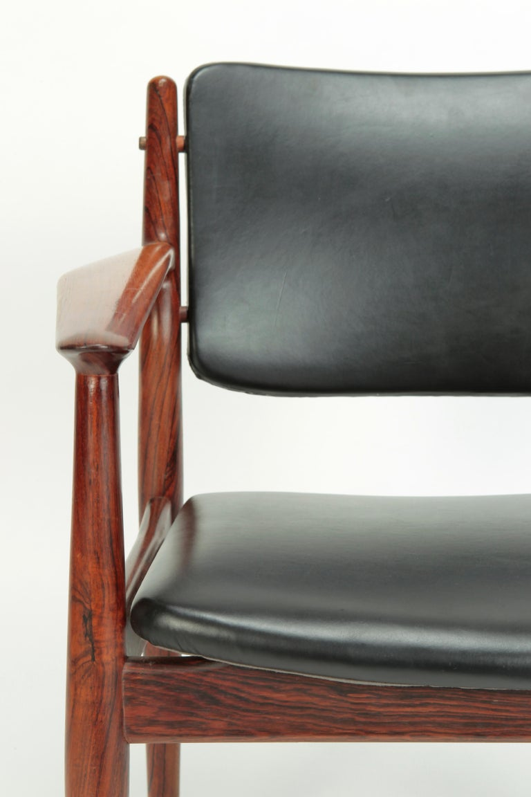 4 Arne Vodder Chairs Sibast, 1960s For Sale 9