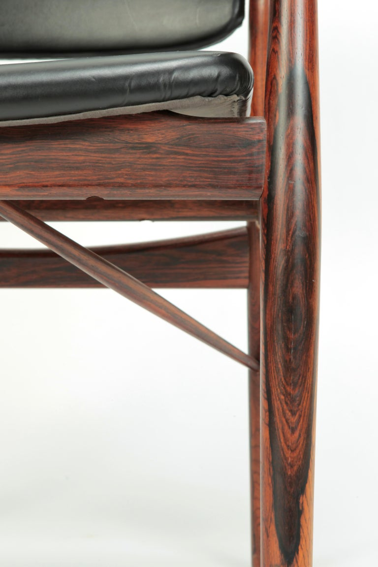 4 Arne Vodder Chairs Sibast, 1960s For Sale 11
