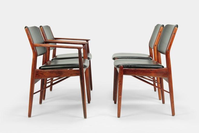 Danish 4 Arne Vodder Chairs Sibast, 1960s For Sale