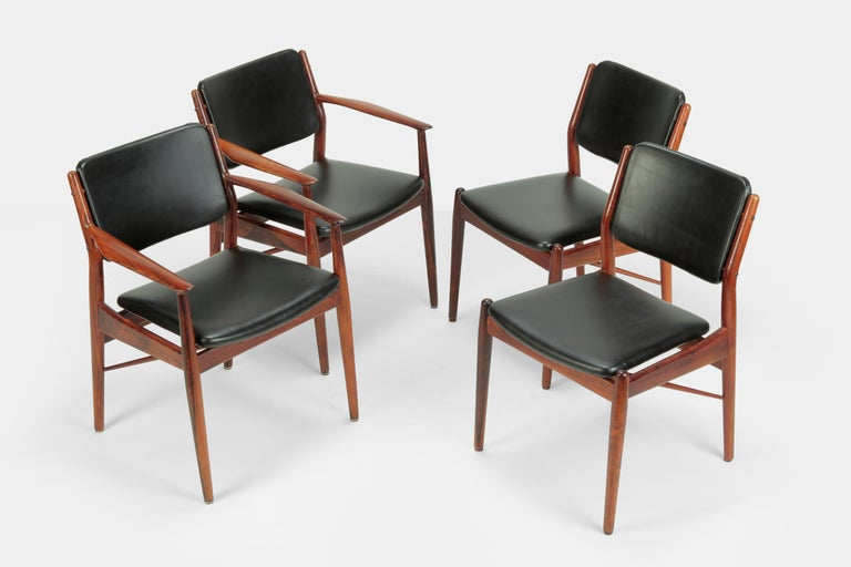 4 Arne Vodder Chairs Sibast, 1960s In Good Condition For Sale In Basel, CH