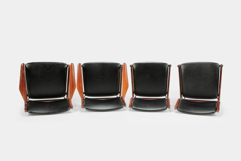 Mid-20th Century 4 Arne Vodder Chairs Sibast, 1960s For Sale