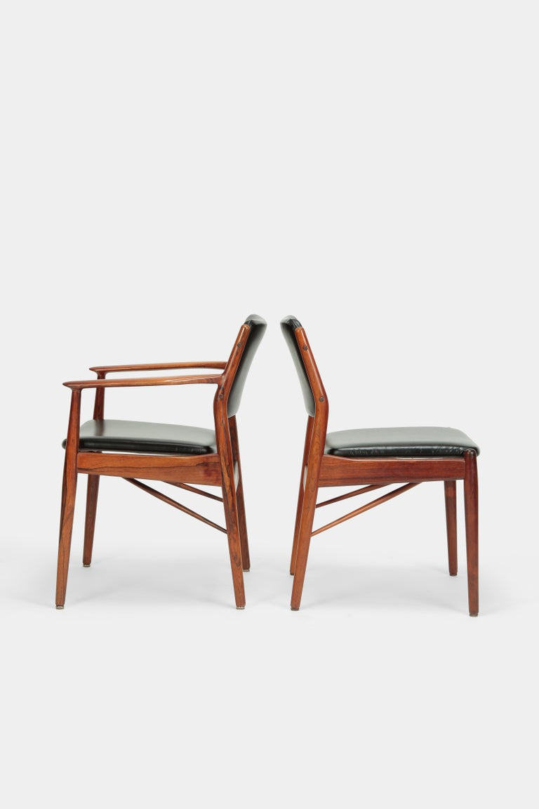 4 Arne Vodder Chairs Sibast, 1960s For Sale 1