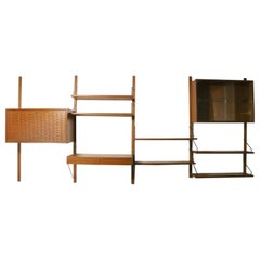 4 Bay Cado Danish Modern Wall Unit