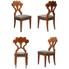 4 Biedermeier Austrian Chairs, 1840
