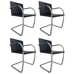 4 Brno Chairs Ludwig Mies van der Rohe for Knoll Int.