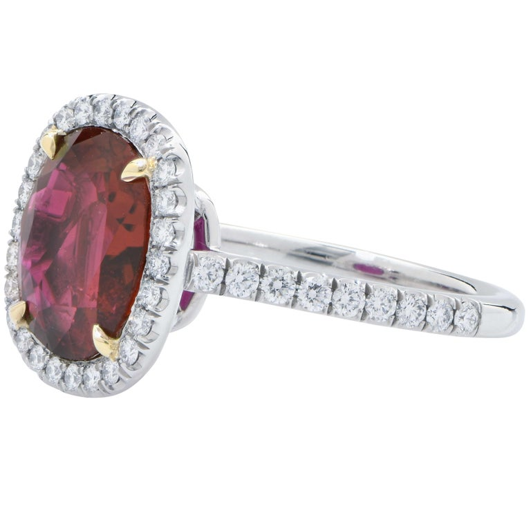 4 Carat AGL Graded Ruby and Diamond Platinum Ring In New Condition For Sale In Coral Gables, FL