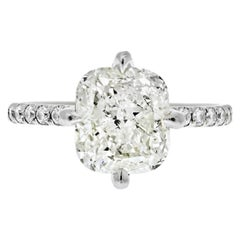 4 Carat Cushion Cut Diamond L/VS2 GIA North, South, East, West Engagement Ring