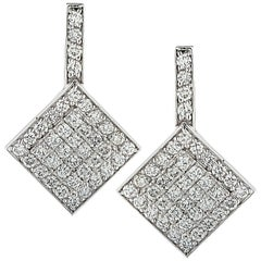 4 Carat Diamond Dangle Earrings