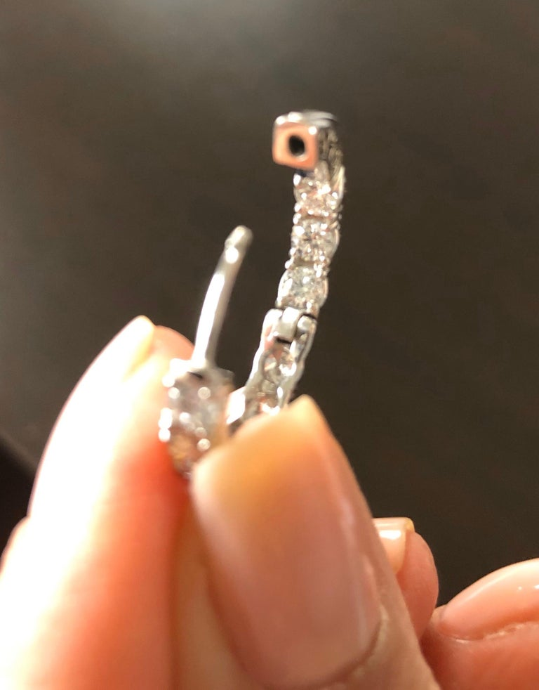 4 Carat Diamond Hoops Earrings For Sale 1