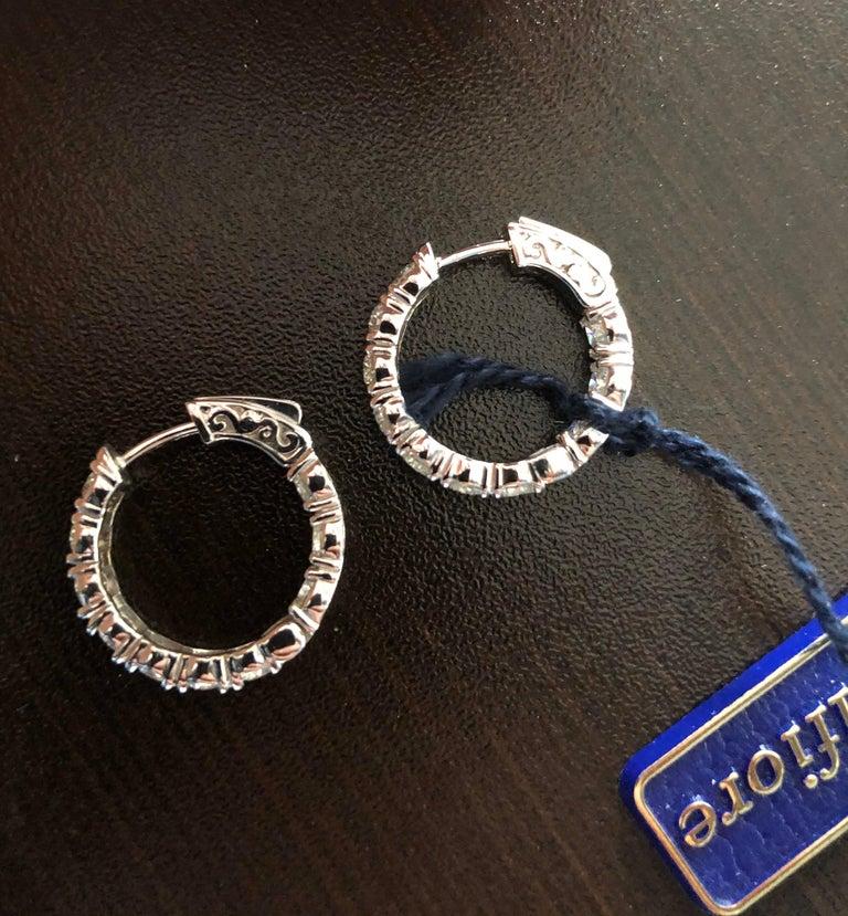 4 Carat Diamond Hoops Earrings For Sale 2