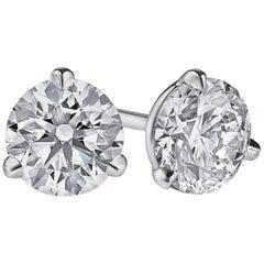 4 Carat Natural Untreated Diamond Studs