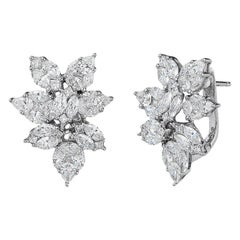 4 Carat Pear Shape Diamond Earrings