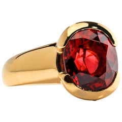 4 Carat Ruby-Red Spinel Ring Certified Untreated