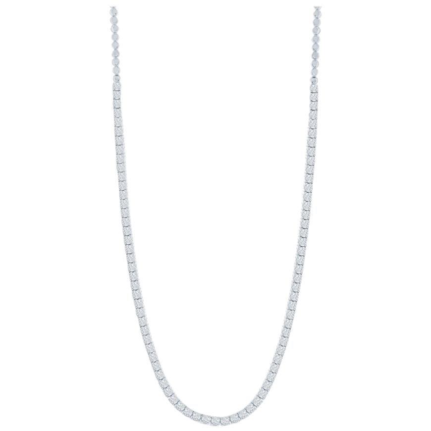 4 Carat Tennis Necklace 4 Prong