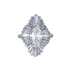 Ballerina,  4 CTW Baguette Diamond, Enormous VS Quality Ring