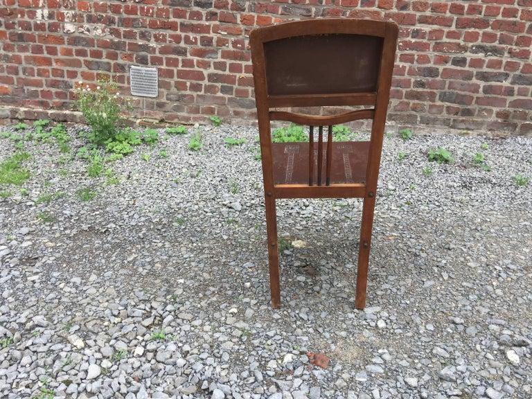 4 Chairs Art Nouveau Period Secession Wien Style, circa 1900 For Sale 3
