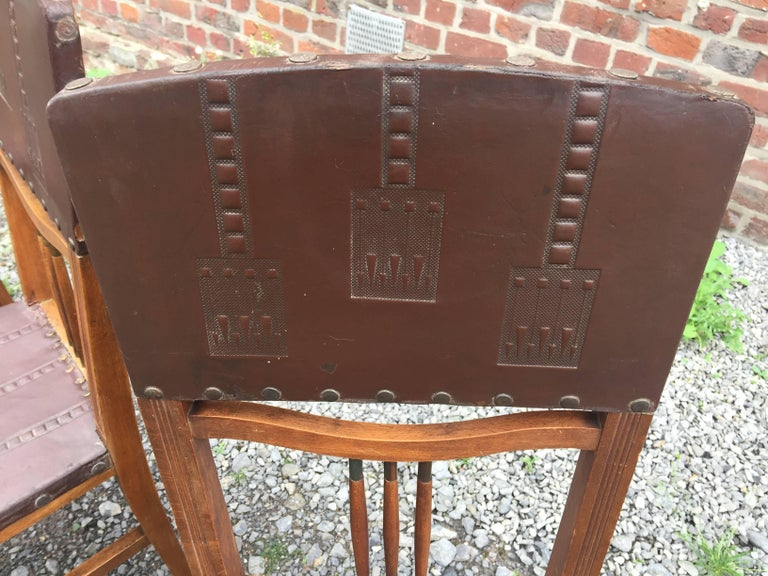 Early 20th Century 4 Chairs Art Nouveau Period Secession Wien Style, circa 1900 For Sale