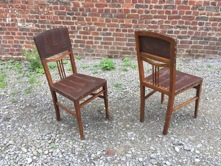4 Chairs Art Nouveau Period Secession Wien Style, circa 1900 For Sale 1
