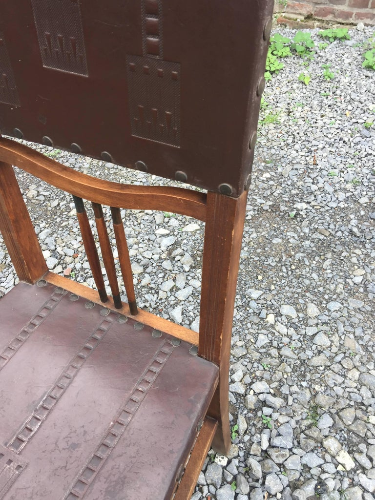 4 Chairs Art Nouveau Period Secession Wien Style, circa 1900 For Sale 2