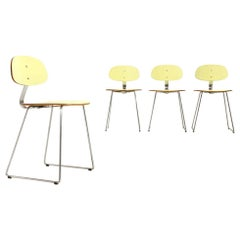 4 Chairs in Yellow Formica by Georges Coslin for 3V Arredamenti, 1950s