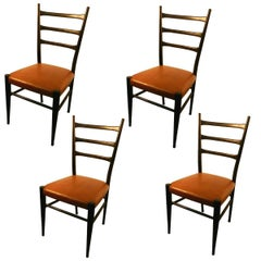Four Italian Style Chairs, circa 1950-1960