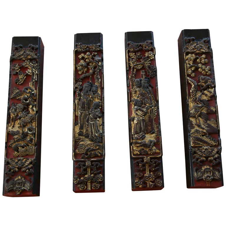 4 Chinese Architectural Elements For Sale