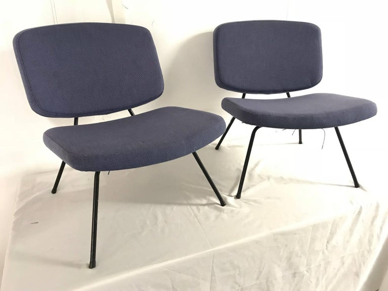 CM190 slipper chairs by Pierre Paulin, France, Thonet editions.