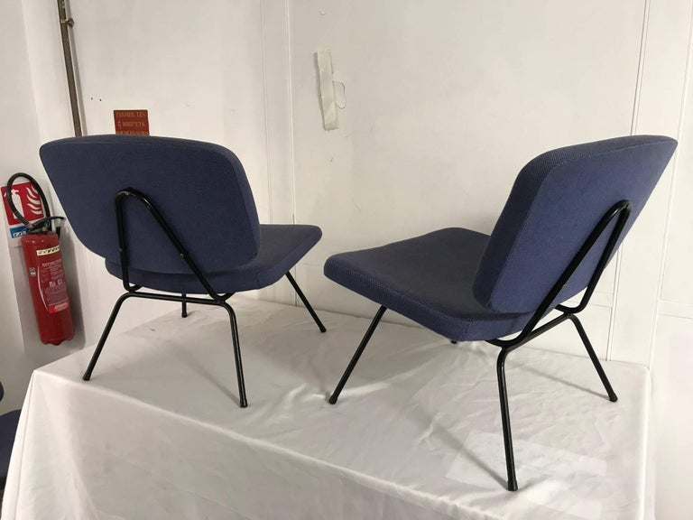 CM190 Slipper Chairs by Pierre Paulin In Good Condition For Sale In Paris, FR
