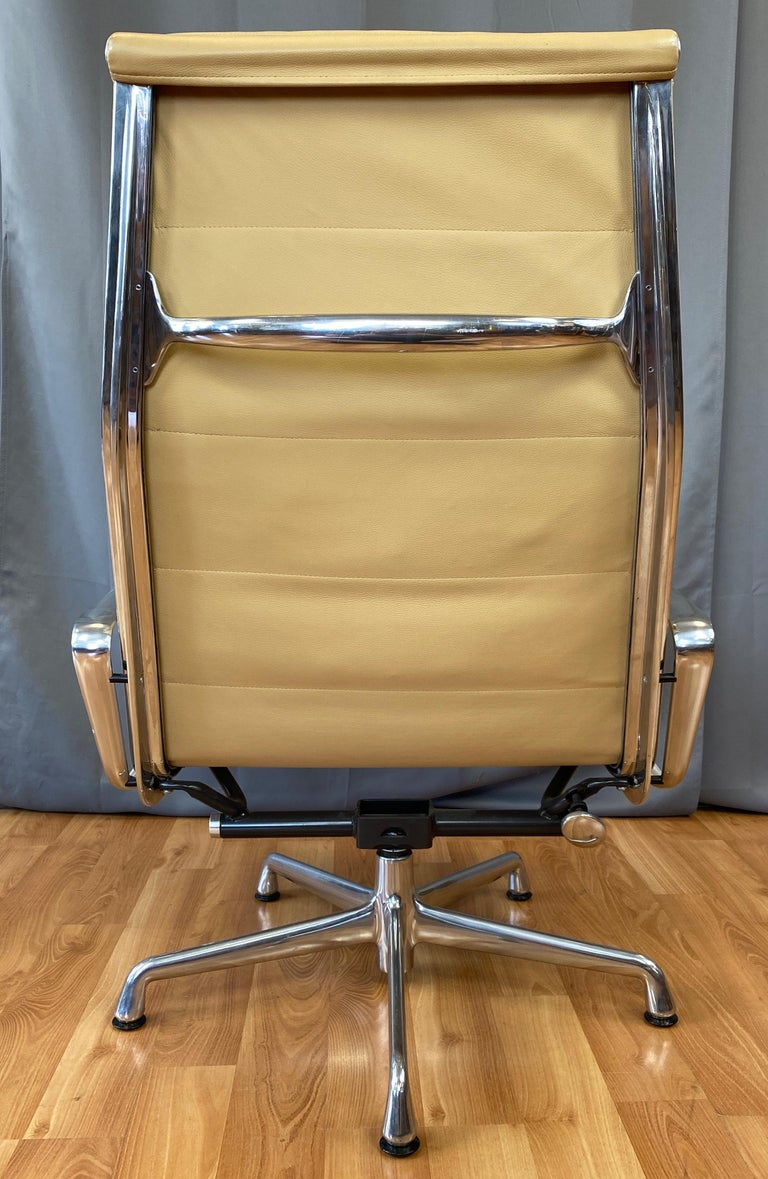 Contemporary 4 Cushion Eames Soft Pad Lounge Chair for Herman Miller in Leather