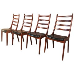 4 Danish Johan Andersen for Uldum Mobelfabrik Vintage Retro 1960 Dining Chairs
