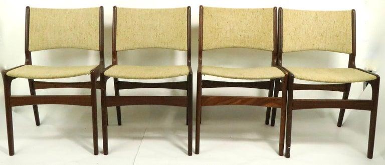 Scandinavian Modern 4 Danish Modern Dining Chairs by Odense Maskinsnedkeri For Sale