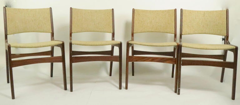 4 Danish Modern Dining Chairs by Odense Maskinsnedkeri In Good Condition For Sale In New York, NY